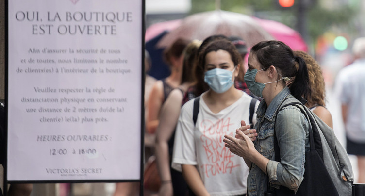 Québec: masques obligatoires dans les lieux publics fermés