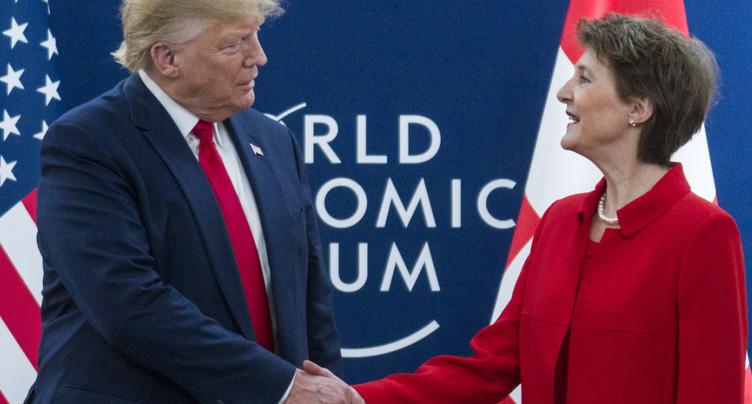 Donald Trump félicite la Suisse à l'occasion de la fête nationale