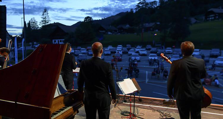 Le drive-in du Festival du Lied à Charmey (FR) a séduit le public