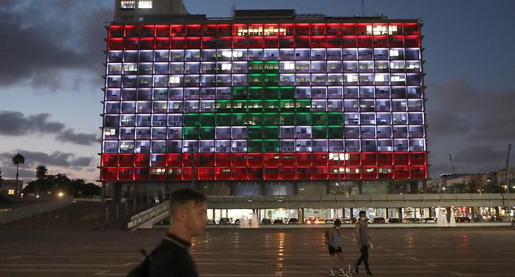 La mairie de Tel-Aviv s'illumine aux couleurs du Liban