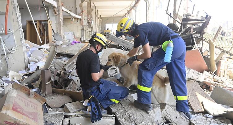 Des secouristes fouillent les décombres à Beyrouth, arrestations