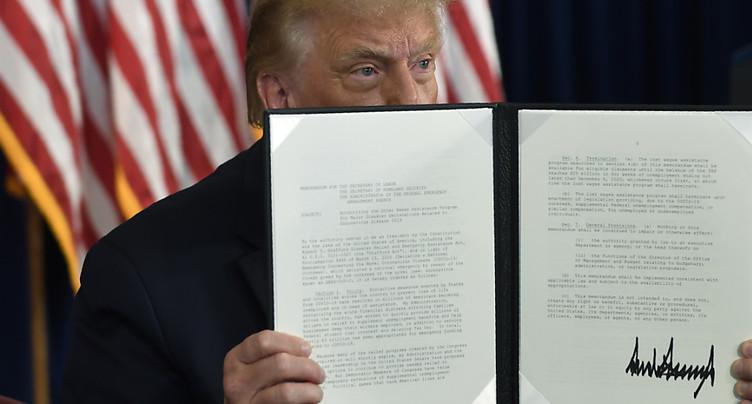 Trump promulgue un nouveau plan d'aide à l'économie par décret