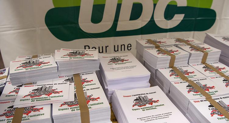 La prospérité est menacée par la libre circulation, selon l'UDC