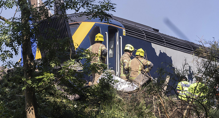 Un train déraille dans le nord-est de l'Ecosse