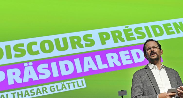 Glättli plaide pour un Green New Deal devant les délégués verts