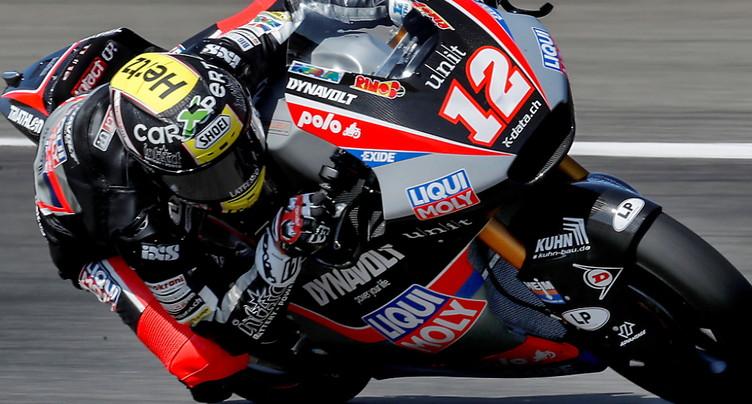 GP de Saint-Marin: Thomas Lüthi 6e en Moto2
