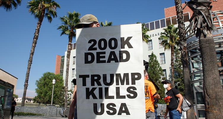 Le bilan atteint 200'000 morts aux Etats-Unis