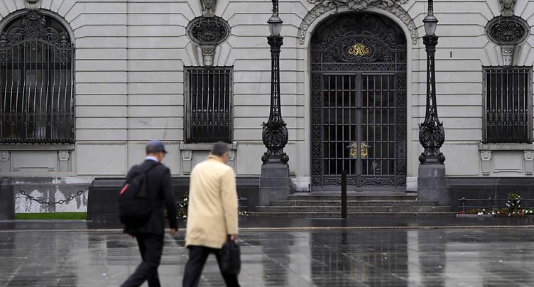 La BNS maintient sa politique monétaire inchangée