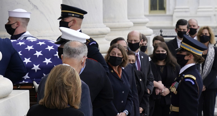 Derniers hommages solennels à Ruth Bader Ginsburg au Capitole