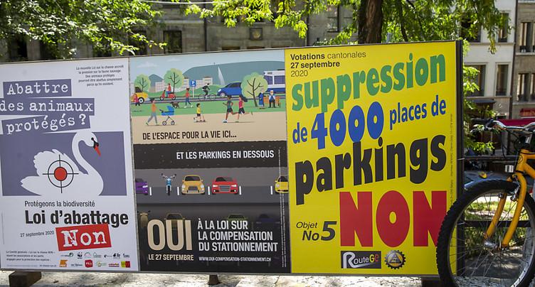 Genève: oui à la suppression de places de stationnement