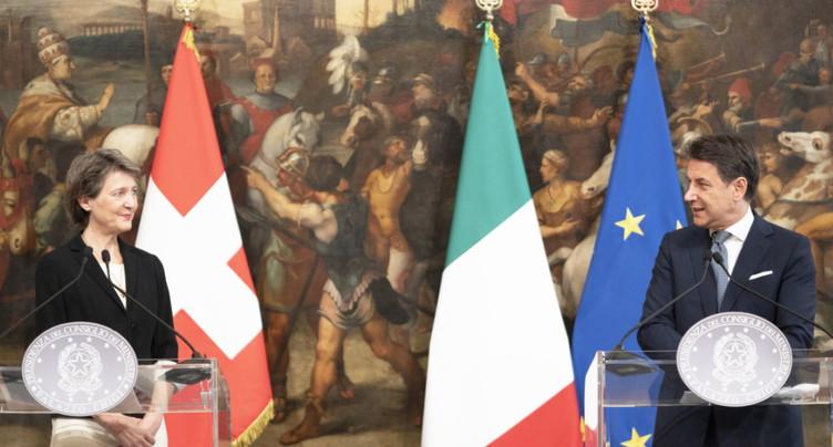L'Italie veut signer rapidement l'accord sur les frontaliers