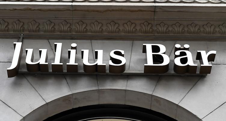 Julius Bär: les avoirs sous gestion reprennent de l'allant