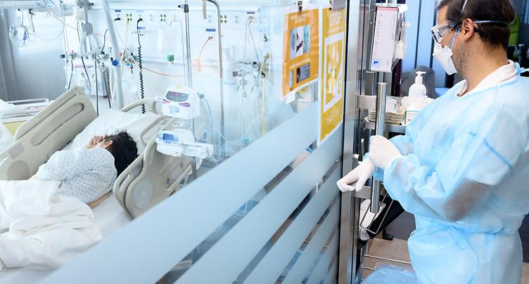 586 patients du Covid-19 dans les hôpitaux suisses