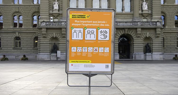 La Suisse compte 3'008 nouveaux cas de coronavirus en 24 heures