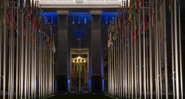Le Palais des Nations illuminé pour les 75 ans de l'ONU samedi