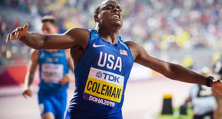Christian Coleman suspendu deux ans