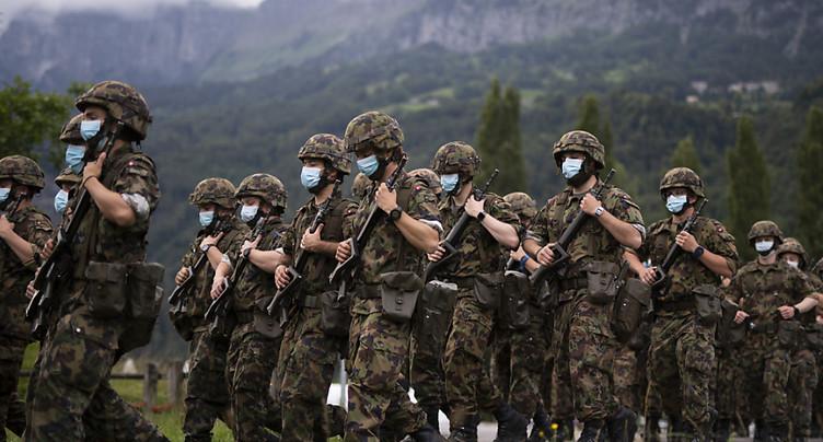 L'armée suspend les cours de répétition jusqu'à la fin de l'année