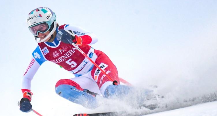 Michelle Gisin superbe 2e en slalom derrière Petra Vlhova