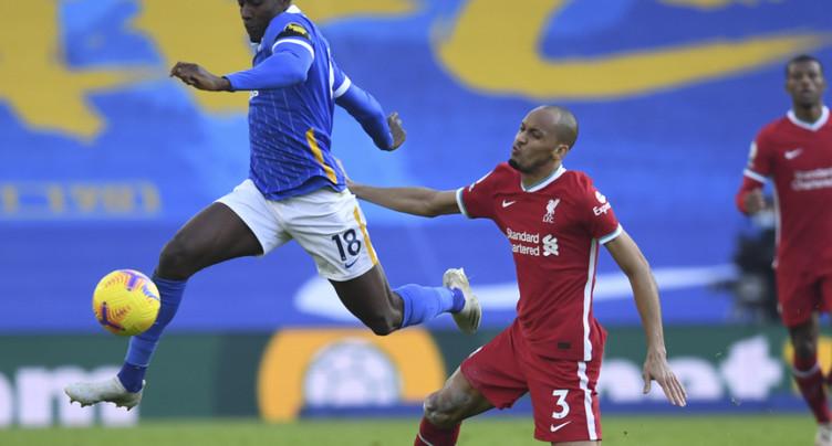 Liverpool laisse filer deux points à Brighton