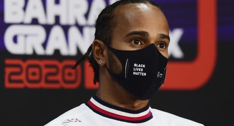 Hamilton devant Bottas à Bahrein