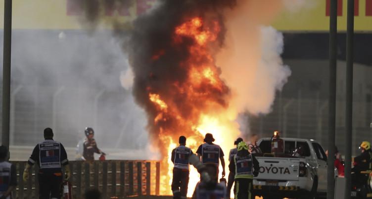 Spectaculaire accident de Grosjean, victime de brûlures légères