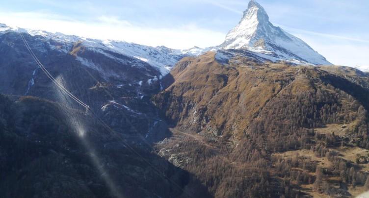 Zermatt: une femme se tue en tombant dans un accident de randonnée