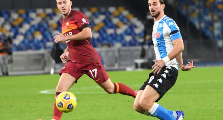 Naples avec un maillot « argentin » contre la Roma