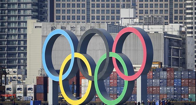 Des anneaux olympiques géants réinstallés à Tokyo