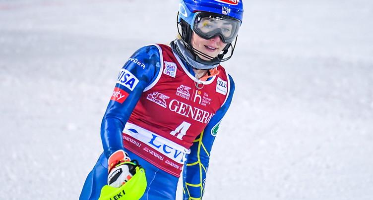 Mikaela Shiffrin renonce à courir à St-Moritz