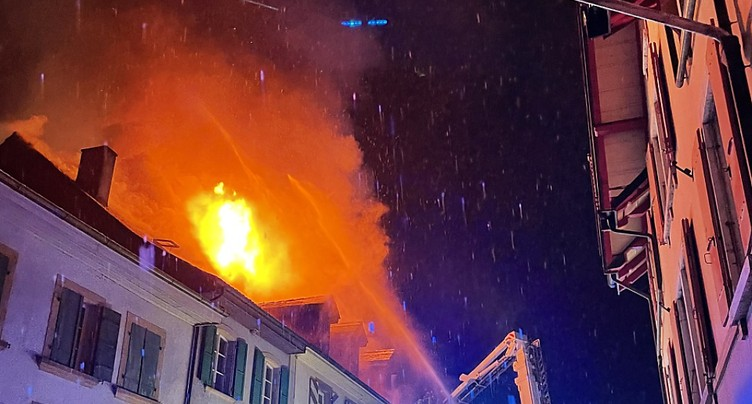 Incendie à Cressier (NE): quatre personnes à l'hôpital