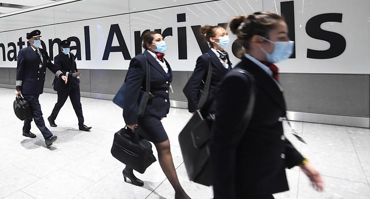 Londres interdit les arrivées d'Amérique du Sud et du Portugal