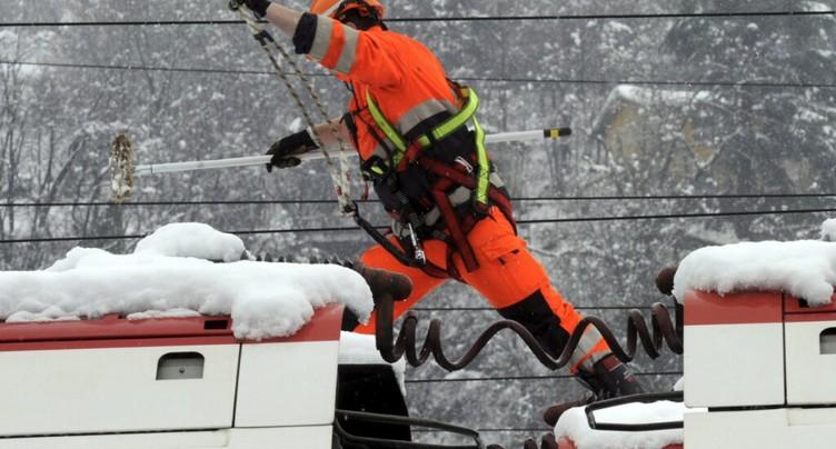 Les CFF toujours sous pression à cause de la neige