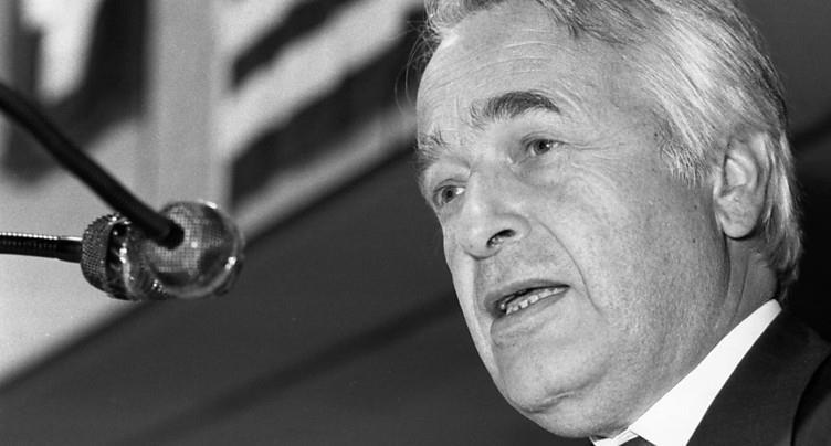 Décès de l'ancien secrétaire d'Etat Franz Blankart