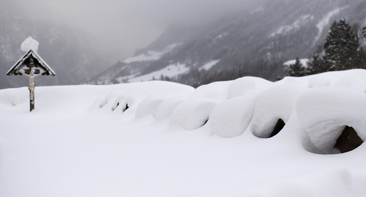 La neige perturbe le trafic routier