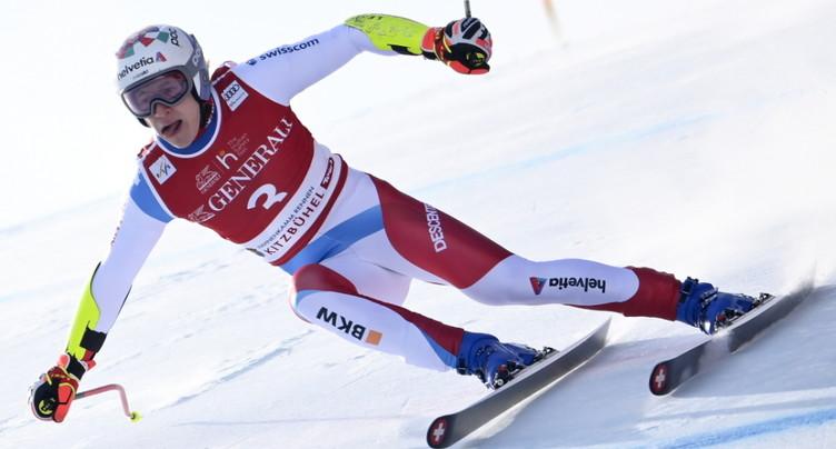 Marco Odermatt brillant 2e du Super-G de Kitzbühel, Meillard 9e