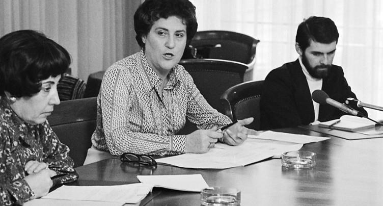 La militante féministe Jacqueline Berenstein-Wavre n'est plus