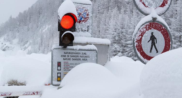Risque d'avalanche: trafic ferroviaire suspendu sur divers tronçons