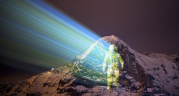Mission vers Mars: un astronaute sur la face nord de l'Eiger