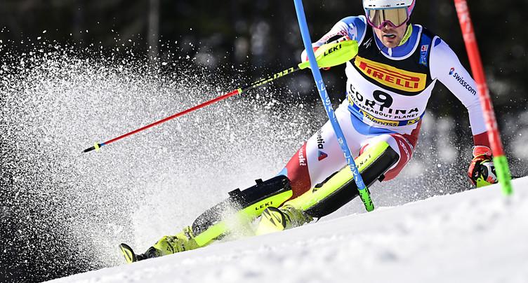 Slalom: Daniel Yule à 0''48 du podium, Pertl mène