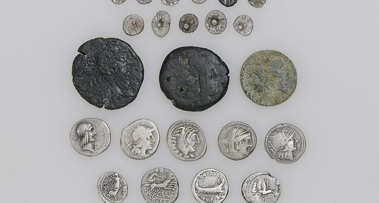 Découvertes de monnaies romaines et celtes près de Zoug