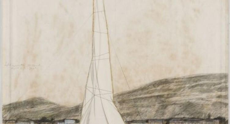 Empaquetage du Jet d'eau: étude de Christo mise à l'encan