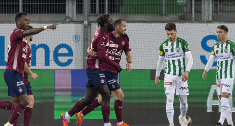 Super League: premier succès de Servette à Saint-Gall depuis 2002