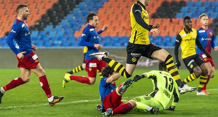Super League: Bâle freine YB, Lausanne s'impose à Vaduz