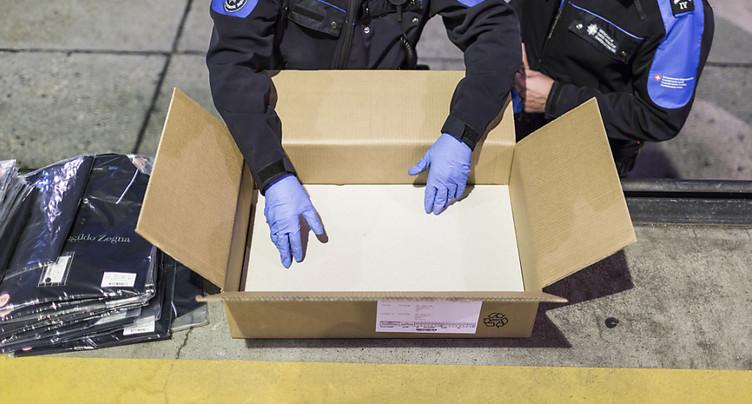 Forte augmentation des saisies de contrefaçons à la douane