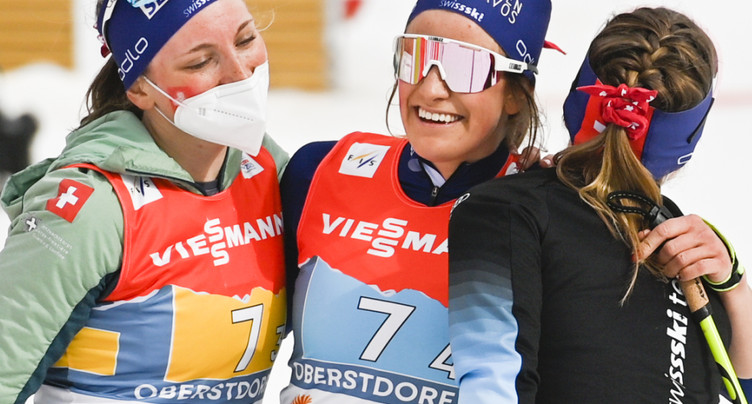 Solide performance du relais suisse dames à Oberstdorf