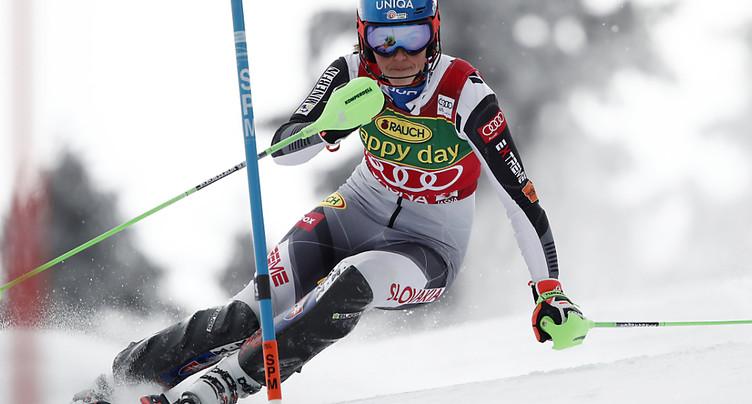 1re manche du slalom: Vlhova en tête, Holdener 3e