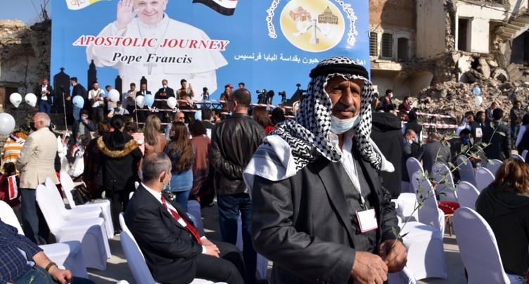 Le pape rencontre les chrétiens du nord de l'Irak ravagé par l'EI