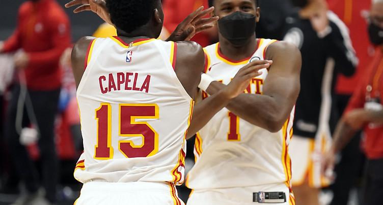 Un 3e succès d'affilée pour Capela et les Hawks