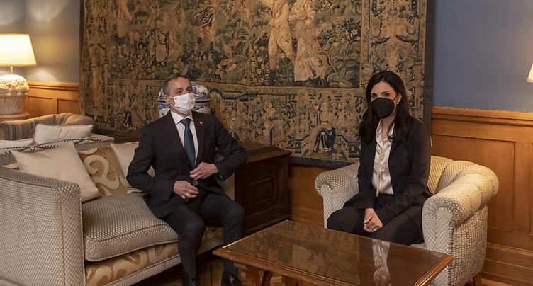 Ignazio Cassis reçoit son homologue liechtensteinoise