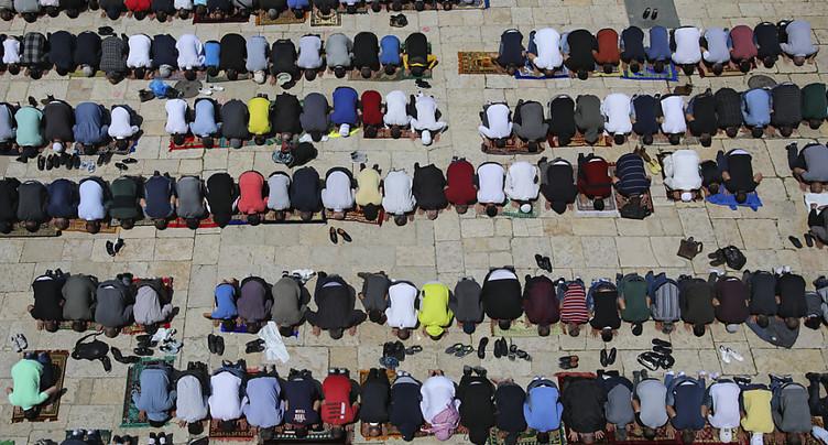 La foule sur l'esplanade des Mosquées depuis le Covid